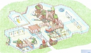 Colored rendering of what Kayla's Playground will look like when built!