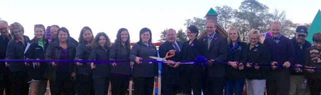 Kayla's Playground Ribbon Cutting Ceremony - October 9, 2015