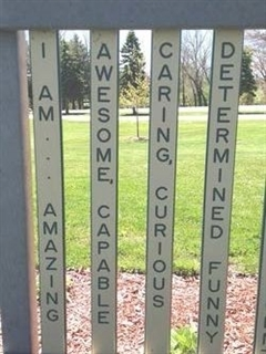 Buy a Custom Picket for fence surrounding Kayla's Playground!