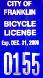 Franklin Bicycle License