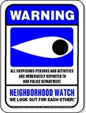 Neighborhood Watch Eye, City of Franklin, Wisconsin