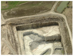 Aerial view of the southern end of the quarry, dated 2010