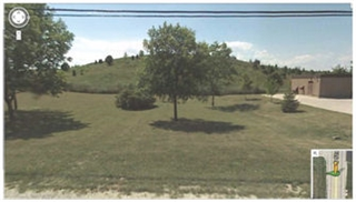 Google Earth Street view of the Vulcan Quarry berm, looking westward from S. 51st Street, dated July 28, 2011